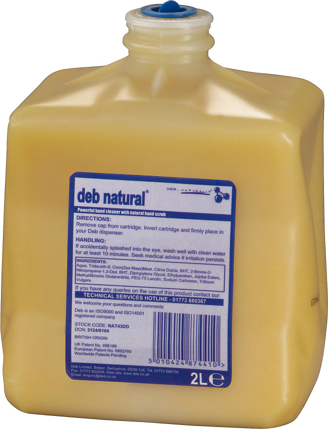 "DEB ""NATURAL"" HAND CLEANSER 2L - HEAVY DUTY (6)"