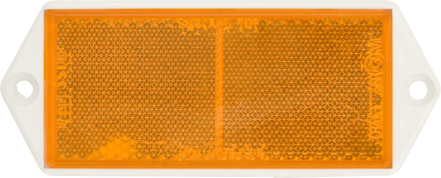REFLECTORS WITH BACKING PLATE - AMBER (10)