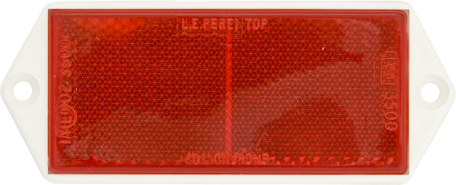 REFLECTORS WITH BACKING PLATE - RED (10)